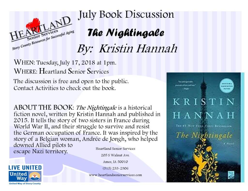 thumbnail of July 2018 Book Discussion Flyer
