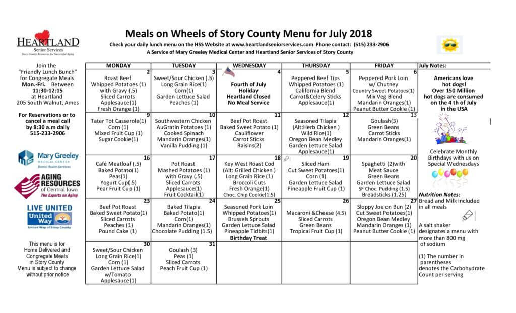 thumbnail of July 2018 menu
