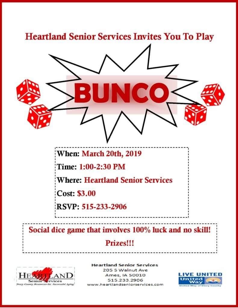 Bunco Heartland Senior Services
