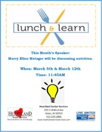 thumbnail of Lunch & Learn